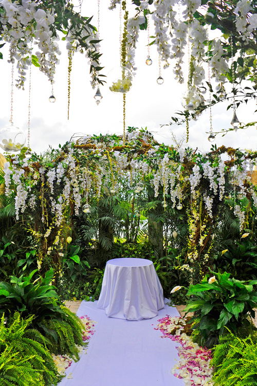 outdoor terrace wedding ceremony