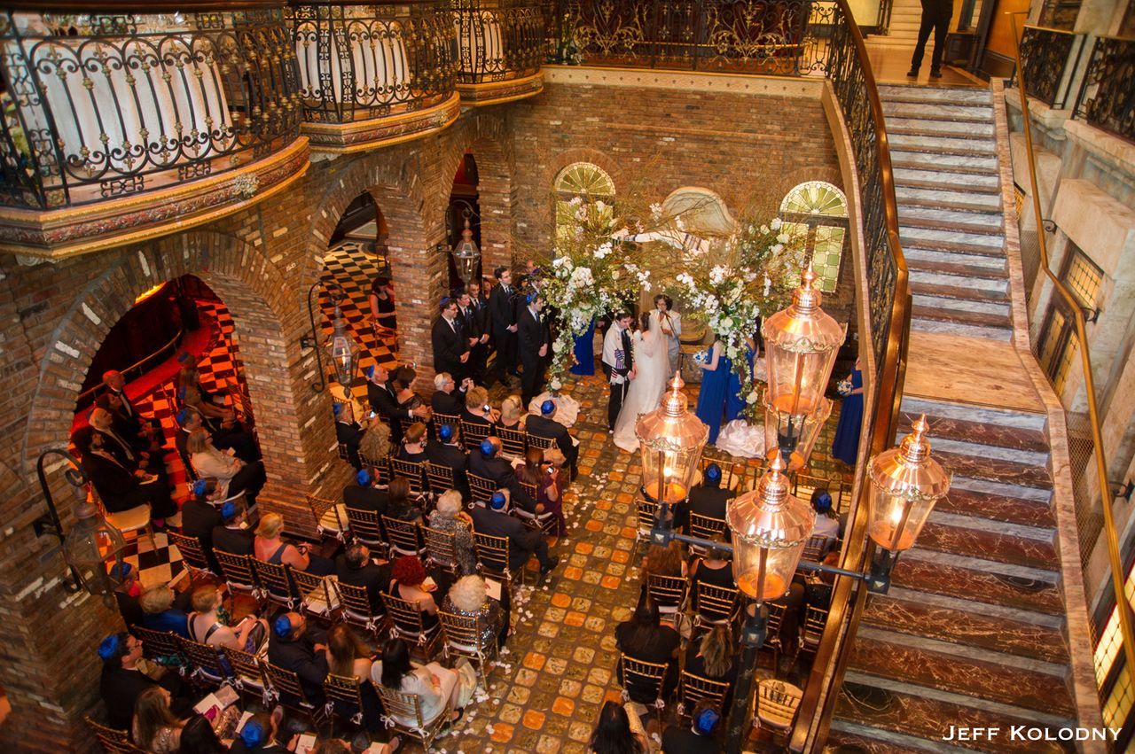 Jewish wedding ceremony at the Cruz Building