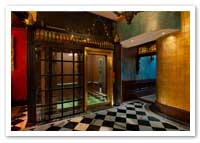 Beveled Glass and Brass Elevator